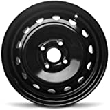 Road Ready Car Wheel for 2006-2012 Toyota Yaris 14 inch 4 Lug Black Steel Rim Fits R14 Tire - Exact OEM Replacement…