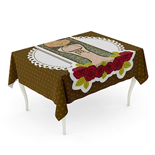 Holy Tablecloth - Tarolo Rectangle Tablecloth 60 x 84 Inch Catholic from The Virgin Mary Mother of Jesus Christ Guadalupe Holy Saint God Mom Table Cloth