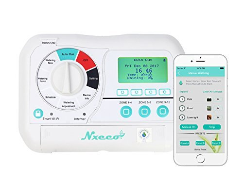 Smart Irrigation Sprinkler Controller NxEco HWN12-200, Smart Sprinkler Timer with EPA Water Sense, Weather Aware, Remote Access, 12 Zone, Works with Google Home and -