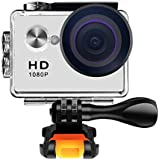 Action Camera 1080P WiFi Sports Camera 12MP Underwater Waterproof Camera with 140 Degree Wide Angle Lens and Mounting Accessory Ki
