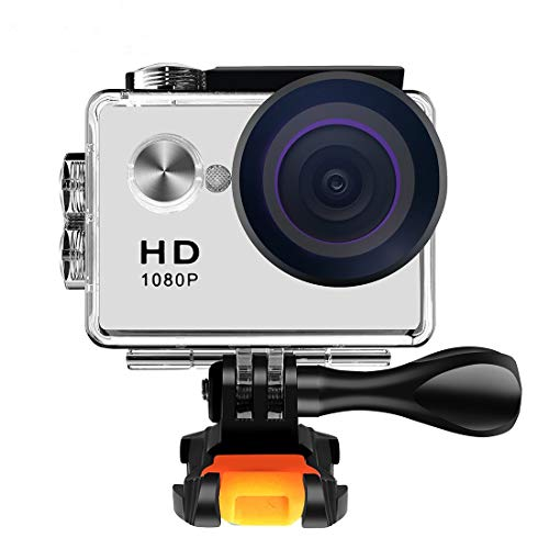 Action Camera 1080P 12MP Underwater Waterproof Camera with 140 Degree Wide Angle Lens and Mounting Accessory Kit - Extreme Kit 98 Dimensions