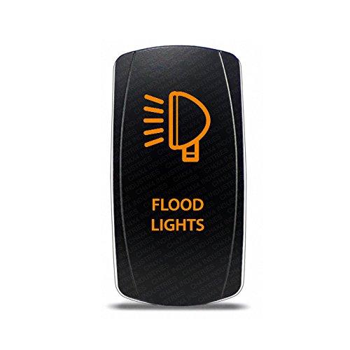 CH4x4 Rocker Switch Flood Lights Symbol - Amber LED (Symbol Switch)