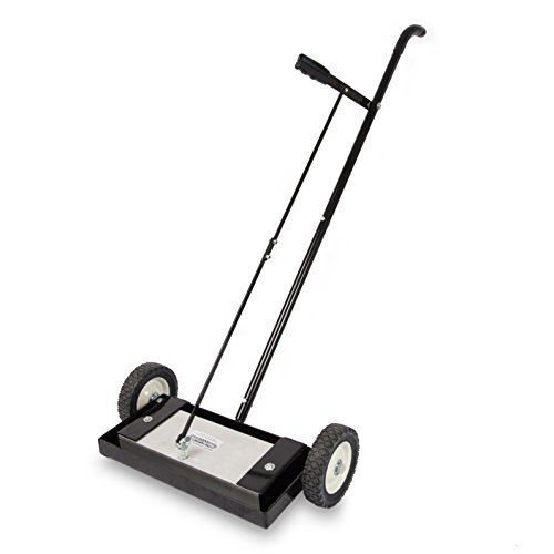 "Magnet Sweeper Heavy Duty Push-Type with Release, 14"" Sweeping Width, 1 Each, Part No. MFSM14RX"
