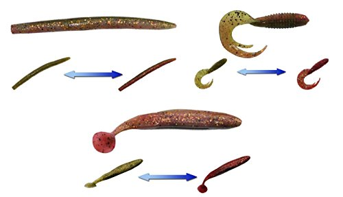 Variety Pack For Bass  Top Bass Lures From Smartbaits  Used By Pros  Patented Color Changing Technology By Smartbaits