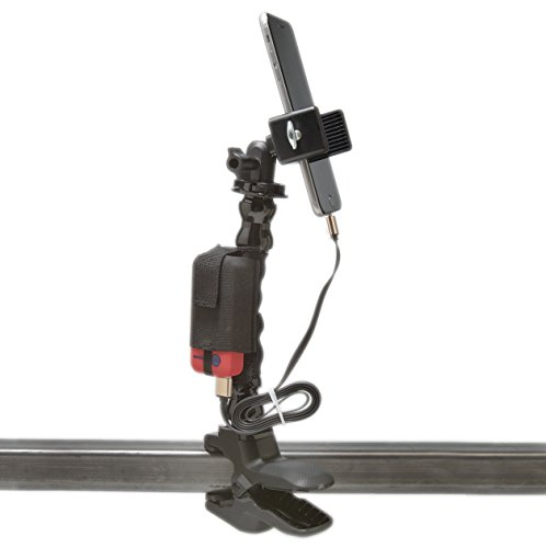 Golf Gadgets - Swing Recording System with Battery Charger | Jaws Clamp & Gooseneck Mount, with Md. and Lg. Device Holders. Compatible with ANY Phone.
