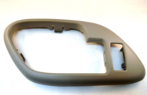 PT Auto Warehouse GM-2576G-3LH - Inside Interior Inner Door Handle Bezel/Trim, Gray - with Lock Hole, Driver Side (Driver Side Lock Hole)
