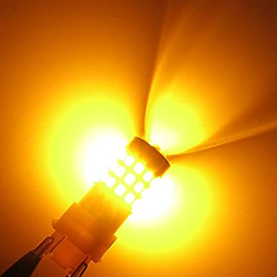 Alla Lighting 3157 LED Bulbs Super Bright 3156 3056 3157KX 4157 3457 4157NAK 3757 T25 Wedge LED Turn Signal Blinker Lights, Amber Yellow: Automotive