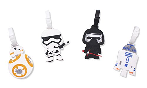 Finex Set of 4 Star Wars BB-8 Travel Luggage ID Tag Bag Suitcase ()