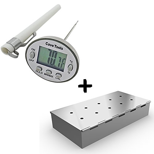 Digital Thermometer Smoker Grill Chips