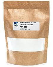 Titanium Dioxide | Cosmetic Grade | Soap Making, Crafts, Paints and Pigment Colorant | Resealable Pouch | PTR-630 16oz 8oz 4oz