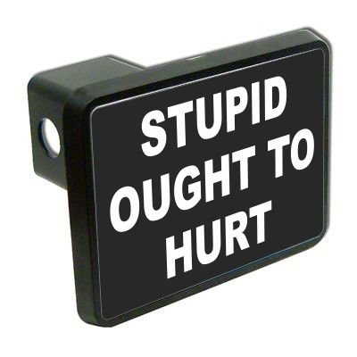 Stupid ought to hurt funny 2 Tow Trailer Hitch Cover Plug Truck Pickup RV