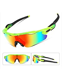 Polarized Sports Sunglasses Changeable Lenses TR90 Frame...