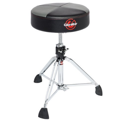 (Gibraltar 9608RQPGB Round Quarter Panel Two Tone Drum Throne, Grey/Black)