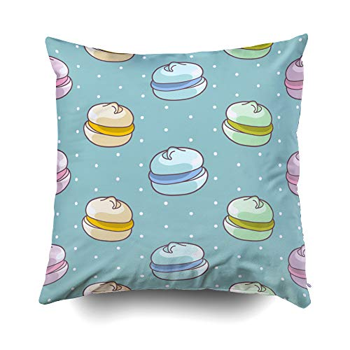 GROOTEY Decorative Cotton Square Pillow Case Covers with