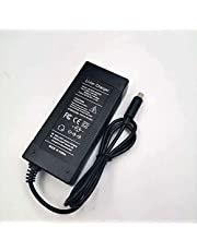 YHZ Cykelbatteriladdare, nätdel laddare laddningskabel 42 V2A laddare för 36 V batterier med 5,5 mm x 2,1 mm rund kontakt för elscooter elcykel pedelec elektrisk cykelbatterier för laddning.