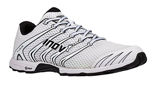 Inov-8 F-Lite 230 - Original Minimalist Cross Training Shoes - All Purpose Athletic Shoe for Gym, Training and Weight Lifting - White/Black 6 M UK