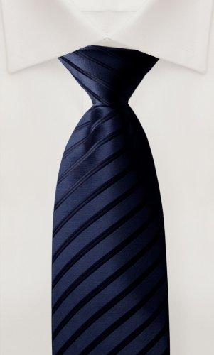 Cravate de Fabio Farini en bleu noir