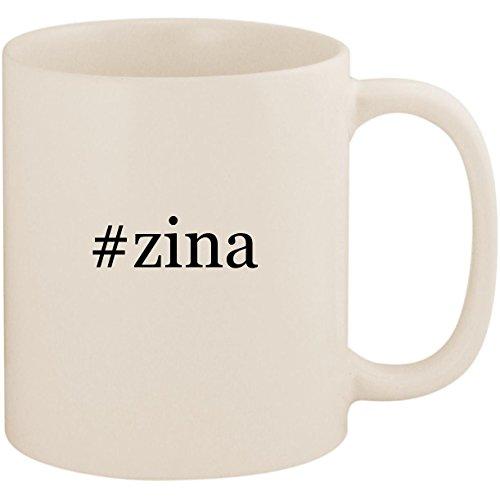 #zina - 11oz Ceramic Coffee Mug Cup, White ()