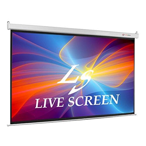 ※営業所止め LIVE SCREEN 4:3 180インチ 電動格納 プロジェクタースクリーン B07674LRCC