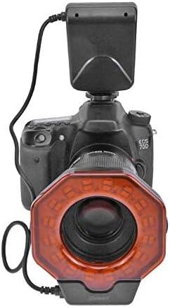 Blue-Ocean-11 LED Camera Macro Ring Light Flash Speedlite with Adapter Ring 8 Modes Light Adjustable for Digtal Camera