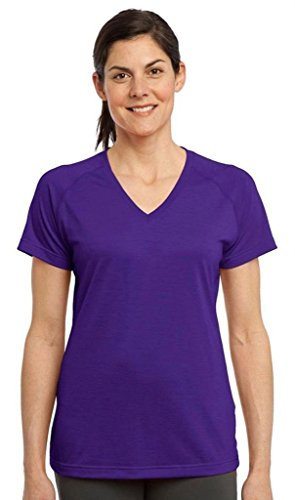 Sport-Tek Women's Ultimate Performance V Neck XL Purple