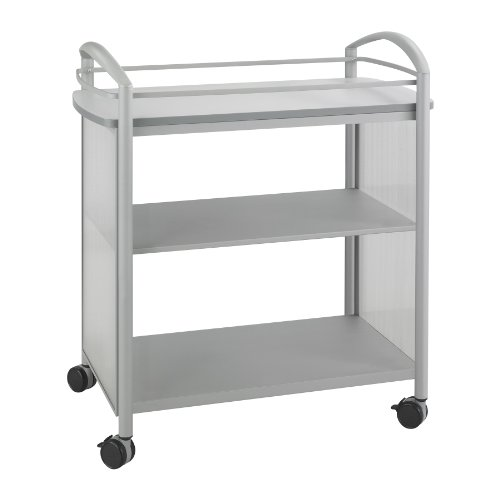 Safco Products 8967GR Impromptu Beverage Hospitality Cart, Gray Top/Metallic Gray Base