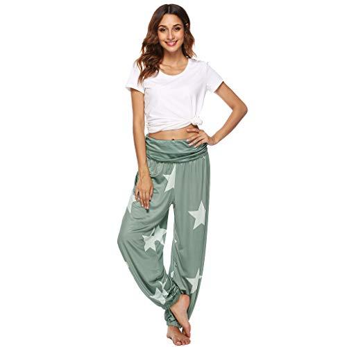 (Women Scrunch Butt Yoga Pants Leggings High Waist Waistband Workout Sport Fitness Gym Tights Push Up Green)