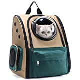 Eyxia- Pet Master Pet Backpack, Canvas Transparent Fashion Pet Bag, Pet Out Bag Portable Pet Bag Cat Bag Puppy Backpack Pet Bag, For Going Out Or Travelling Packet,A Dog Walking Cat Carrier Bag Carrie