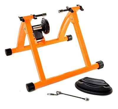 Indoor Bike Trainer Exercise Stand, Orange