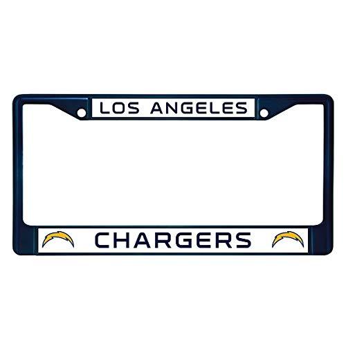 NFL Los Angeles Chargers Bolt Logo Chrome Licensed Plate Frame