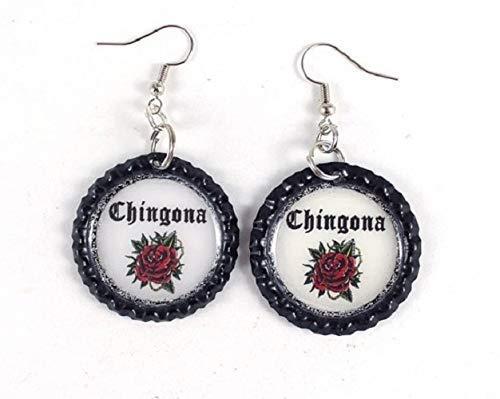Chingona Bottle Cap Earrings