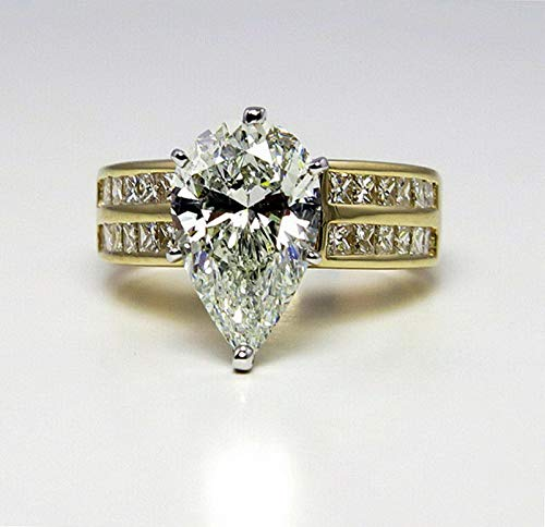 Crookston White Topaz 18K Yellow Gold Plated Ring Woman Men Gift Wedding Jewelry Size 5-10 | Model RNG - 16447 | 8