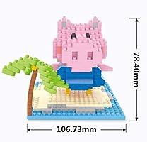 Nano Blocks 934pcs Peppa Pig Micro Diamond Building Blocks DIY Set Kit