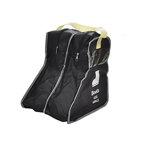 Simple polymer Portable Boot Bag,Boot Carrier,Shoe Bags,Black (Small)