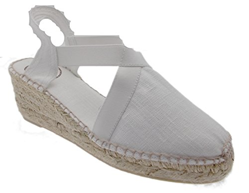 Sandalias mujer vestir Pons para blanco Bianco Toni de O57vqcZqw