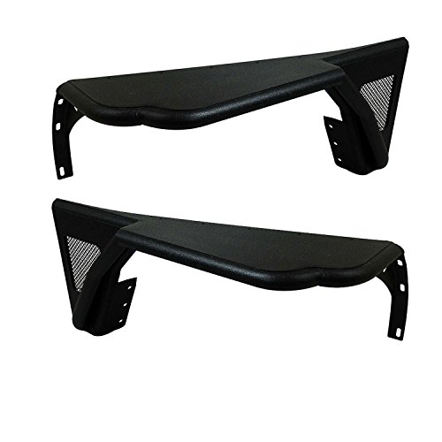 Paramount Restyling Steel Black CJ Jeep Front Fenders with Mesh Inserts