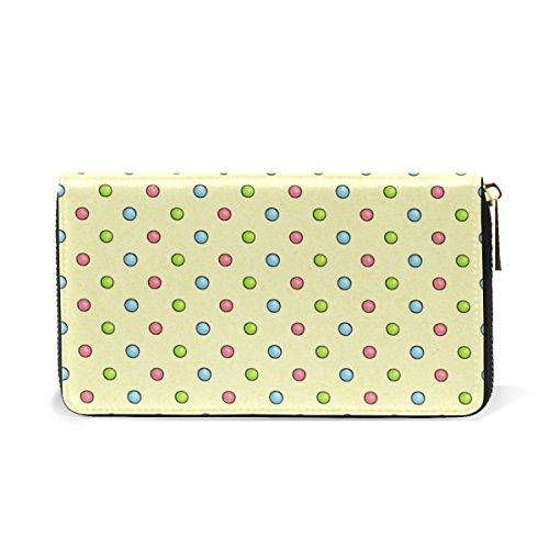 Wallet Around Organizer And Dots Clutch Purses TIZORAX Colorful Zip Womens Handbags zvOxpq