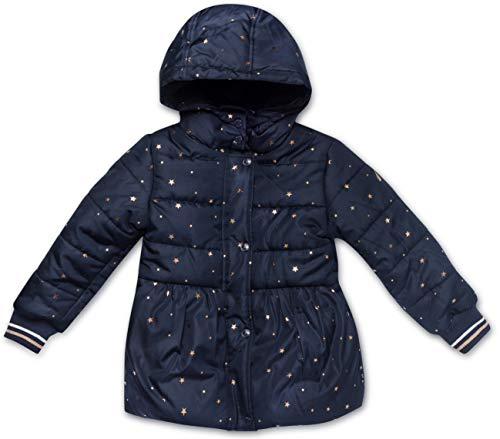 Nautica Girls' Toddler Puffer Coat with Removable Hood, Navy, 2T