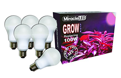 Miracle LED Almost Free Energy 100W Red LED Grow Lite - For Intense Flowering and Fruiting of your Plants and DIY Horticulture, Hydroponics, and Indoor Gardens (604314) 6Pack by MiracleLED