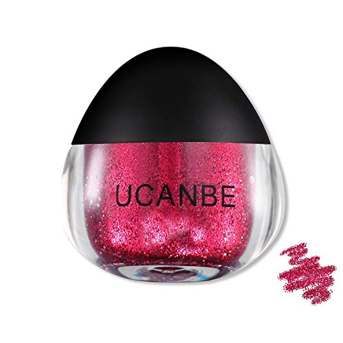 UCANBE Body Glitter Snot, Eye Face Hair Shimmer & Glitter Makeup,Easy-to-use & Ready-to-use, 0.63 fl. Oz (Rose)