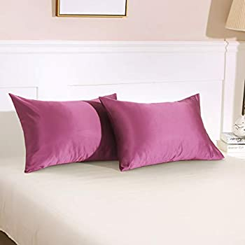 Amazon Com Homiest 2pc Satin Pillowcases For Hair And