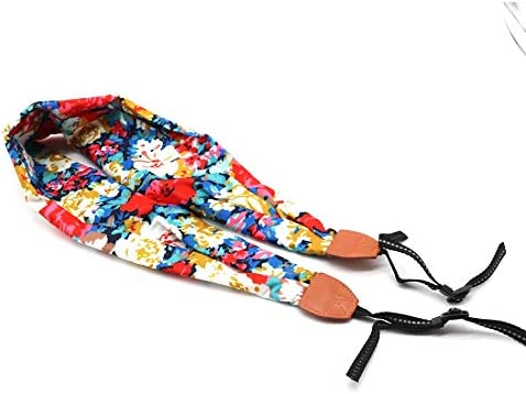 Camera Belt Accessory Women Nylon National Shawls and Scarves Flower Style Neck Shoulder Strap for DSLR Camera Female Scarf Soft Oriental Bohemian Durable Color : NO.2