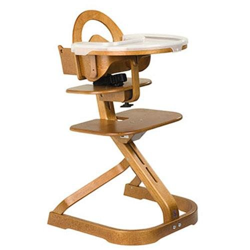 Wooden High Chair with Removable Tray (Cherry)