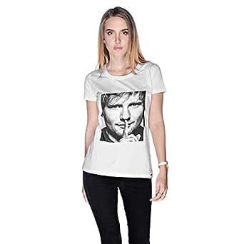 Creo Ed Sheeran T-Shirt For Women - L, White