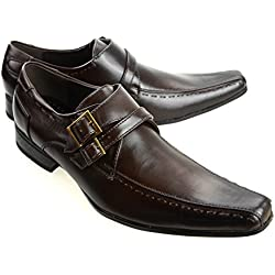 MM/ONE Mens Shoes Dress Shoes Loafer Casual Shoes Laceup Gift Shoes Darkbrown 43 EU (US Men's 10 M)