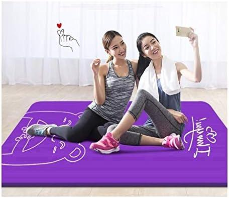 Yoga mat 特大のダブルヨガマット肥厚は、子どもたちが練習ノンスリップフィットネスマット家庭用ギフト収納袋を踊る長い女の子が広がりました workout