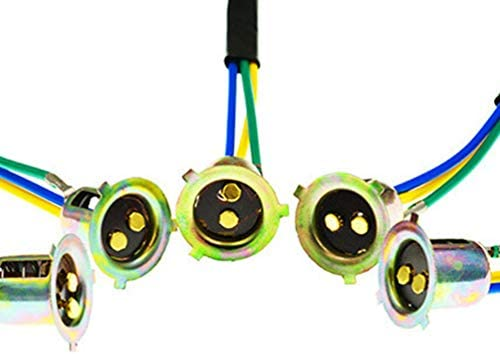 Wakauto 5本のヘッドライトソケットフォグライトソケットオートバイのヘッドライトホルダーアダプター