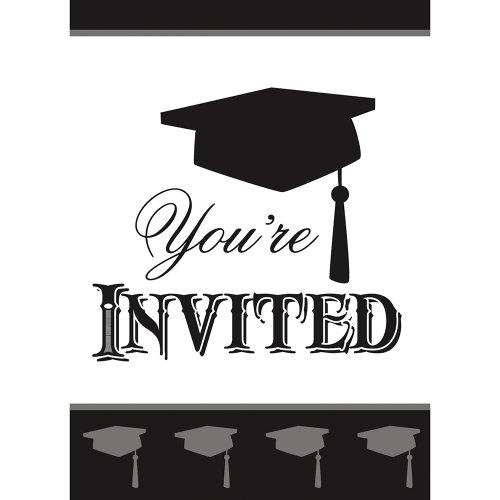 Classic Graduation Invitations, 8ct by Unique (Image #1)
