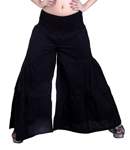 Sarjana Handicrafts - Pantalón - para mujer negro
