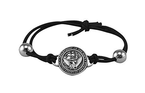 U.S. Navy Charm Adjustable Bracelet